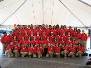 City Year kicks off their year of service at Westlake Plaza